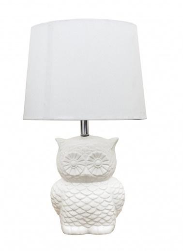 Warm Design Baykuş Abajur  Beyaz